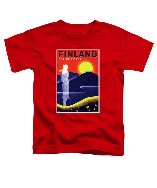 Finnish State Railways - Finland For Holidays - Retro Travel Poster - Vintage Poster Toddler T-Shirt