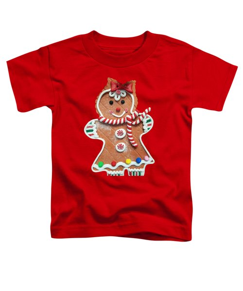 Gingerbread Cookie Girl Toddler T-Shirt