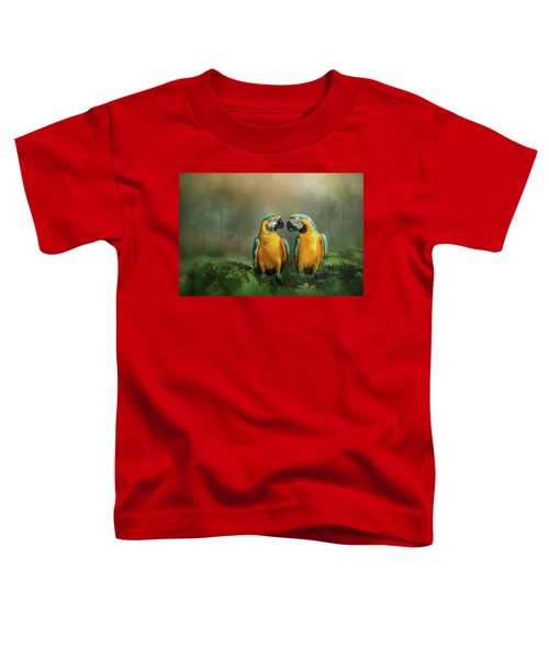 Gold And Blue Macaw Pair Toddler T-Shirt