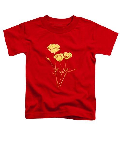Golden California Poppy Toddler T-Shirt
