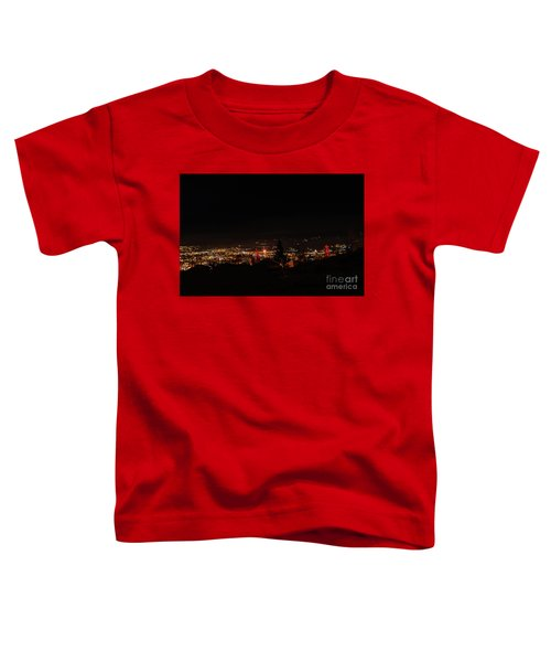 Headframes Outlined In Red Lights Toddler T-Shirt