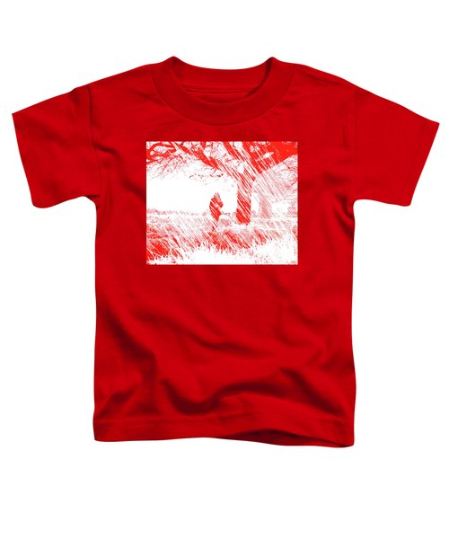 Icy Shards Fall On Setttled Snow Toddler T-Shirt