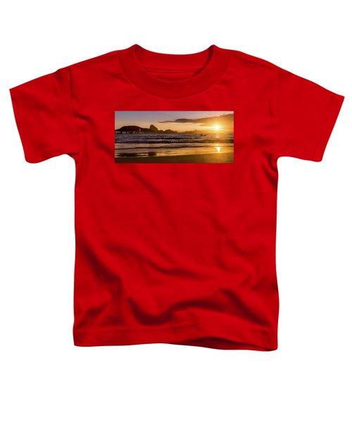 Idyllic Sunrise In Copacabana Beach In Rio De Janeiro, Brazil Toddler T-Shirt