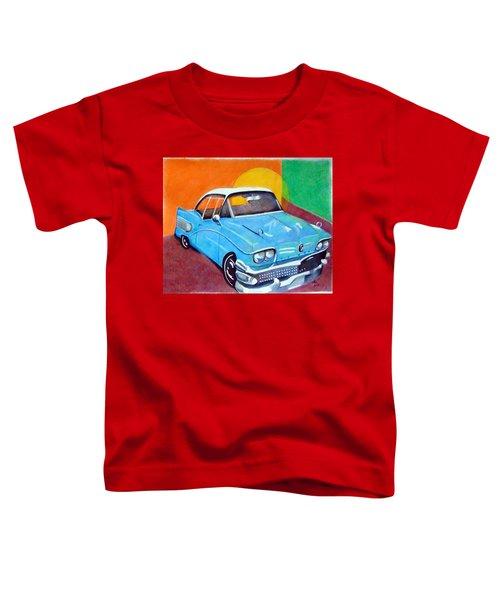 Light Blue 1950s Car  Toddler T-Shirt