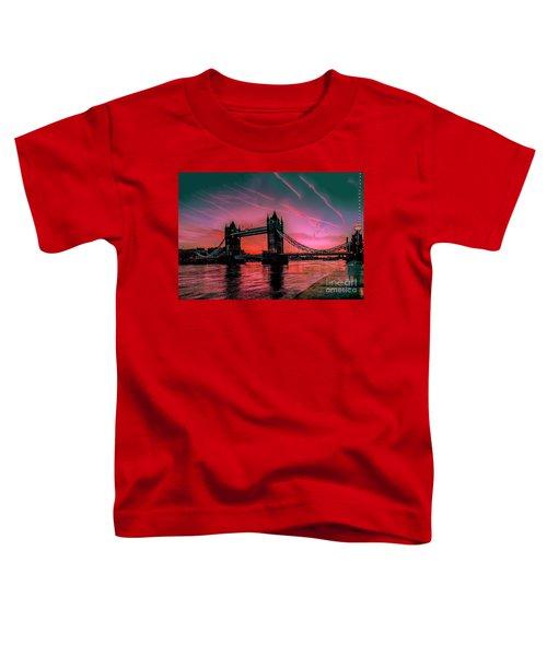 London Tower Bridge Sunrise Pano Toddler T-Shirt