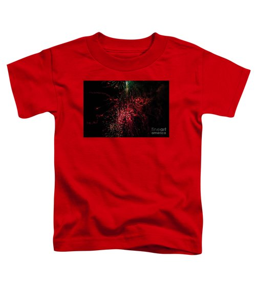 Mostly Red And White Fireworks Toddler T-Shirt
