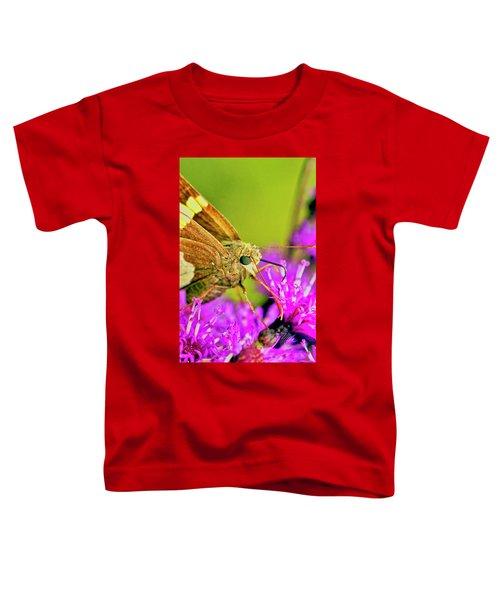 Moth On Purple Flower Toddler T-Shirt