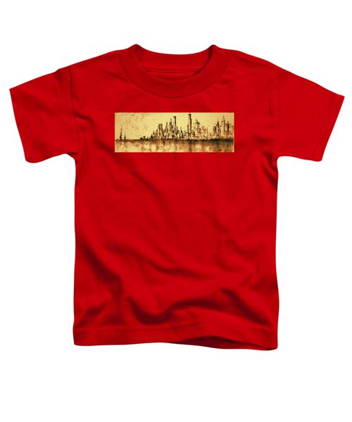 New York City Skyline 79 - Water Color Drawing Toddler T-Shirt