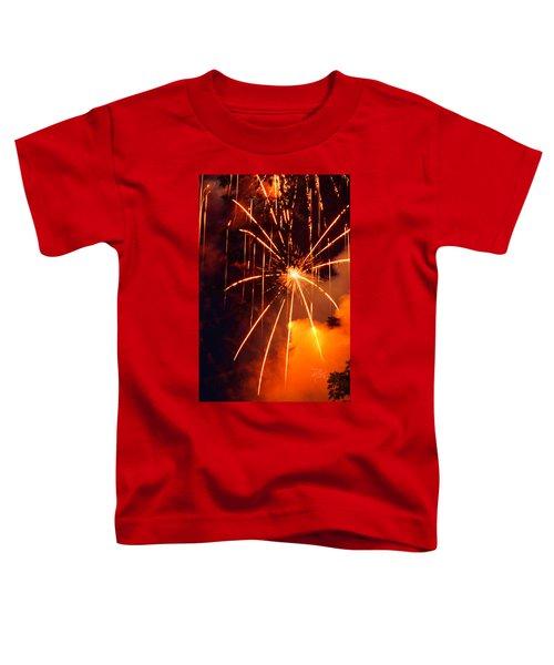 Orange Fireworks Toddler T-Shirt