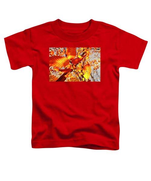 Orange Fall Leaves Toddler T-Shirt