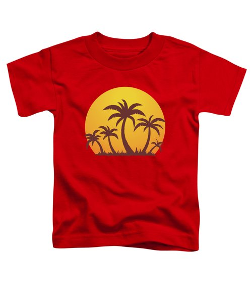 Palm Trees And Sun Toddler T-Shirt