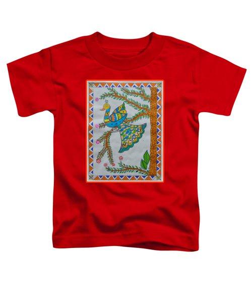 Peacock In Madhubani Toddler T-Shirt