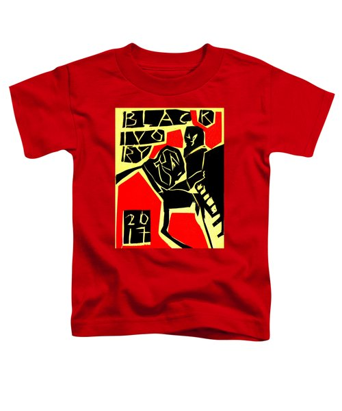 Piano Player Black Ivory Woodcut Poster 31 Toddler T-Shirt