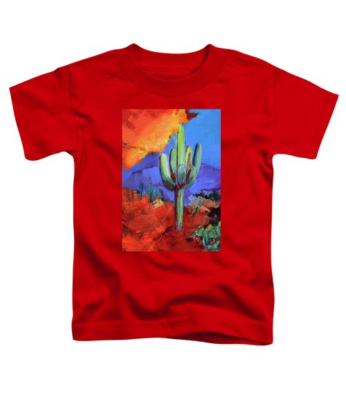 Under The Sonoran Sky By Elise Palmigiani Toddler T-Shirt
