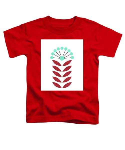 Scandinavian Aquamarine Flower Toddler T-Shirt