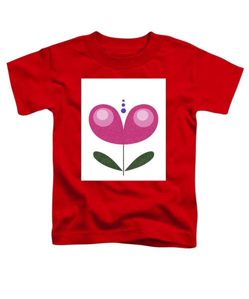 Scandinavian Purple Flower Toddler T-Shirt