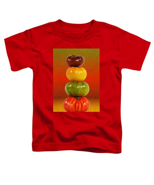 Tower Of Colorful Tomatoes Toddler T-Shirt