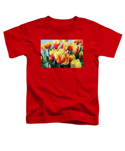 Tulips And Tiger Stripes Toddler T-Shirt
