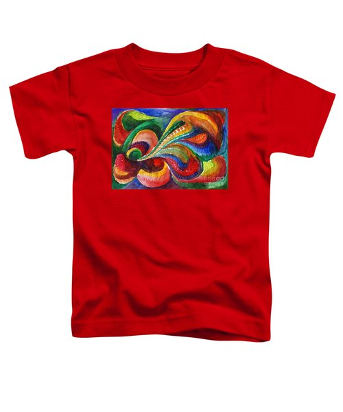 Vivid Abstract Watercolor Toddler T-Shirt