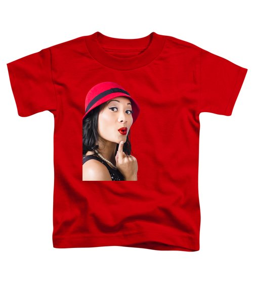 Young Asian Girl With Surprised Expression  Toddler T-Shirt
