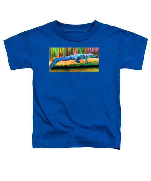 Blue Alligator Toddler T-Shirt
