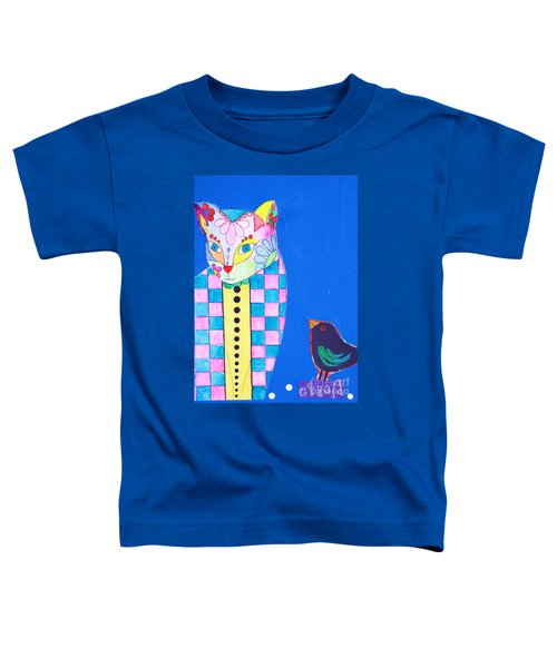 Checkered Cat Toddler T-Shirt