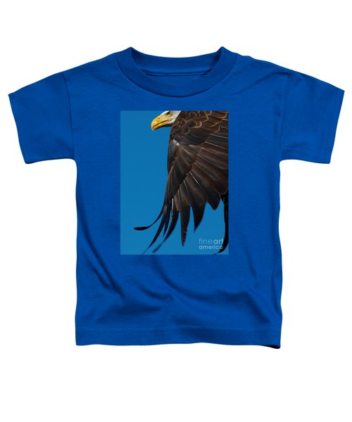 Close-up Of An American Bald Eagle In Flight Toddler T-Shirt