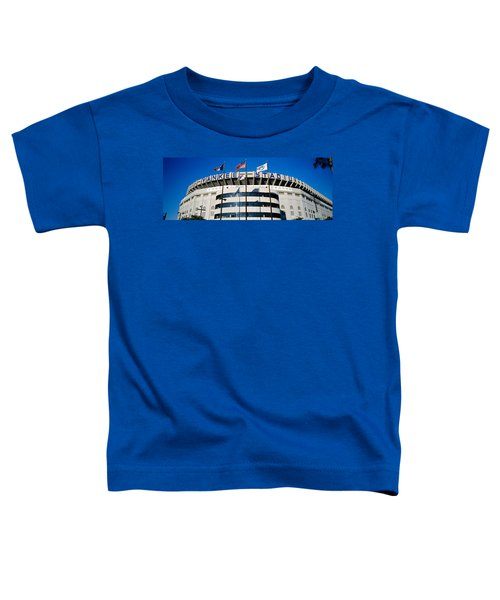 Flags In Front Of A Stadium, Yankee Toddler T-Shirt by Panoramic Images