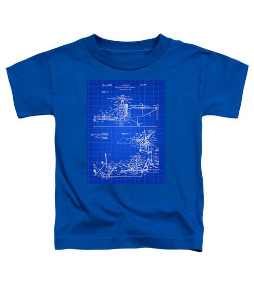 Helicopter Patent 1940 - Blue Toddler T-Shirt