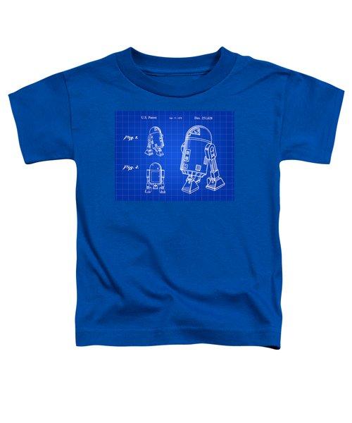 Star Wars R2-d2 Patent 1979 - Blue Toddler T-Shirt
