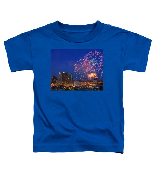 D21l-10 Red White And Boom Fireworks Display In Columbus Ohio Toddler T-Shirt