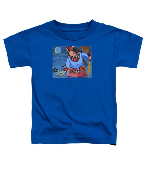 Toddler T-Shirt featuring the painting A Study - Lightening Walker by Chholing Taha