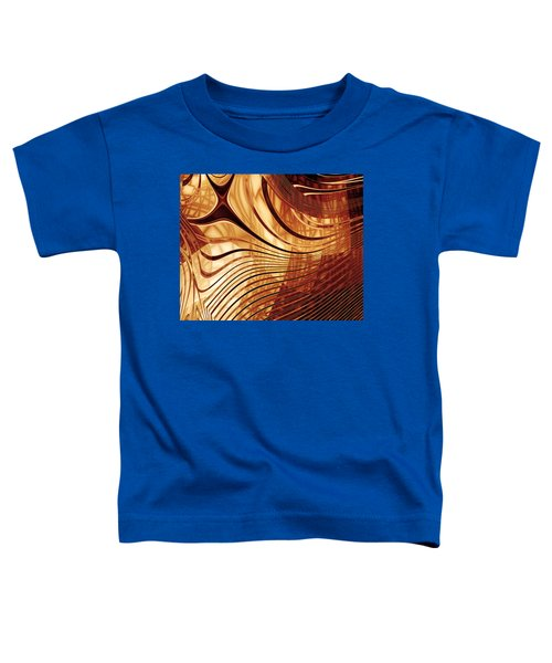 Abstract Artwork Gold 2 Toddler T-Shirt