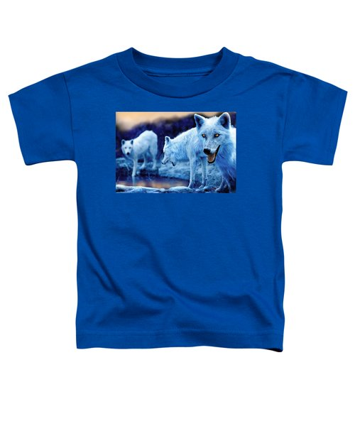 Arctic White Wolves Toddler T-Shirt