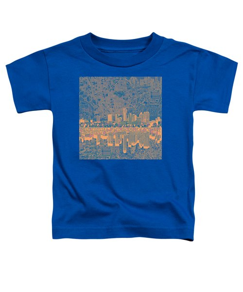 Austin Texas Skyline 2 Toddler T-Shirt by Bekim Art