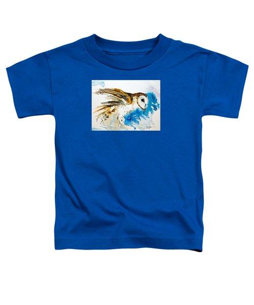 Da145 Barn Owl Ruffled Daniel Adams Toddler T-Shirt