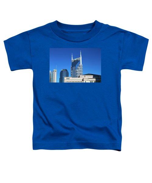 Batman Building And Nashville Skyline Toddler T-Shirt