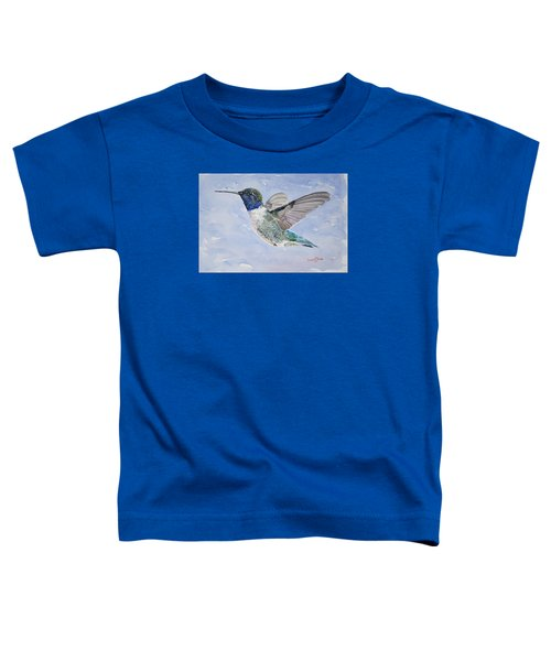 Da194 Black Chinned Hummingbird By Daniel Adams Toddler T-Shirt