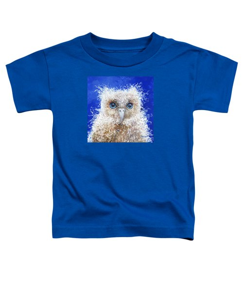 Blue Eyed Owl Painting Toddler T-Shirt