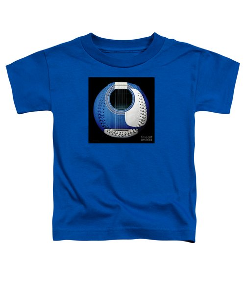 Blue Guitar Baseball White Laces Square Toddler T-Shirt