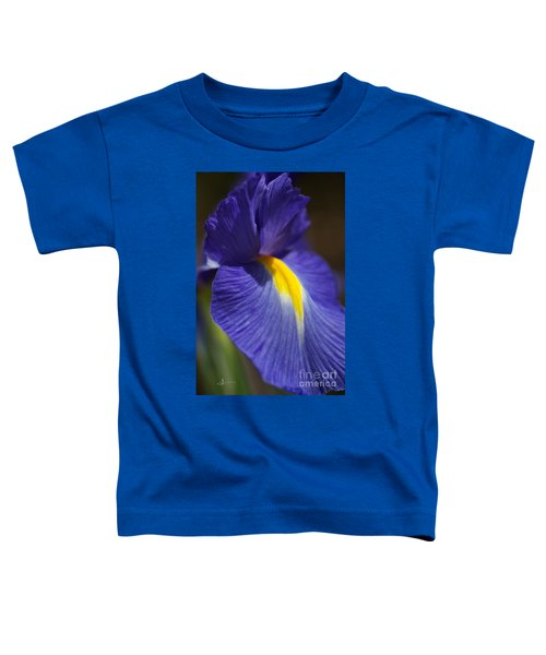 Blue Iris With Yellow Toddler T-Shirt