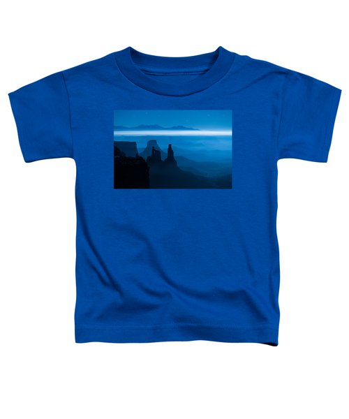 Toddler T-Shirt featuring the photograph Blue Moon Mesa by Dustin  LeFevre