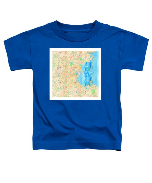 Toddler T-Shirt featuring the digital art Boston Watercolor Map by Joy McKenzie