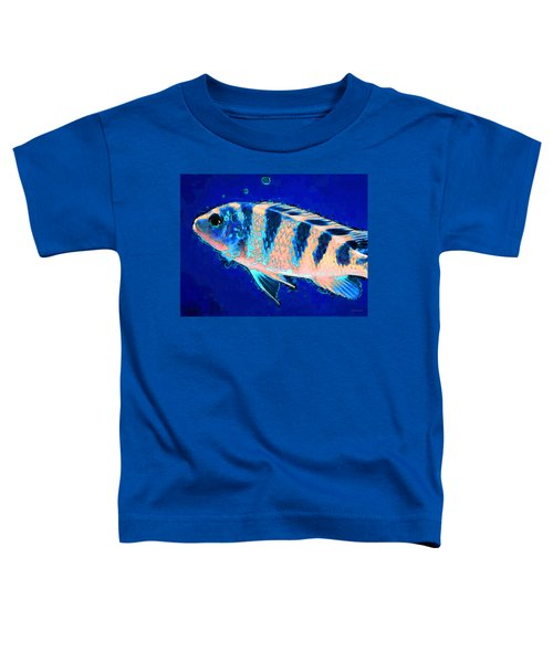 Bubbles - Fish Art By Sharon Cummings Toddler T-Shirt