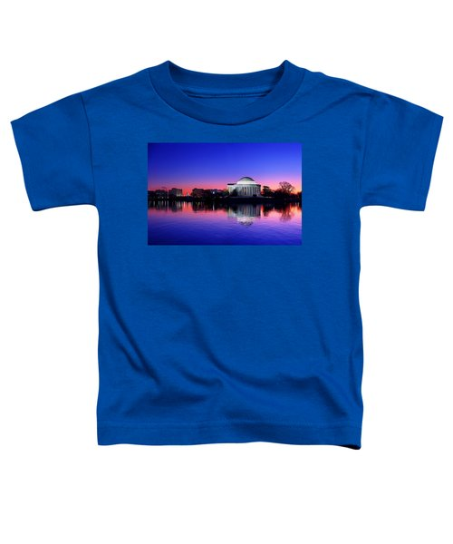 Clear Blue Morning At The Jefferson Memorial Toddler T-Shirt