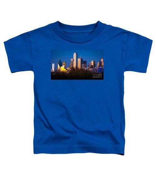 Dallas Skyline Toddler T-Shirt by Inge Johnsson