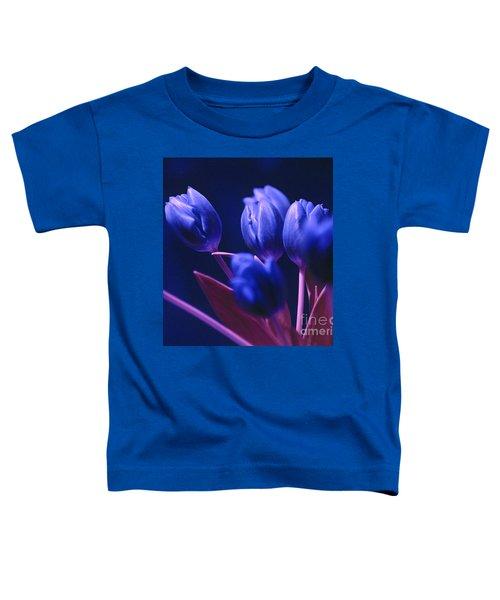 Dark Blue Tulips Toddler T-Shirt