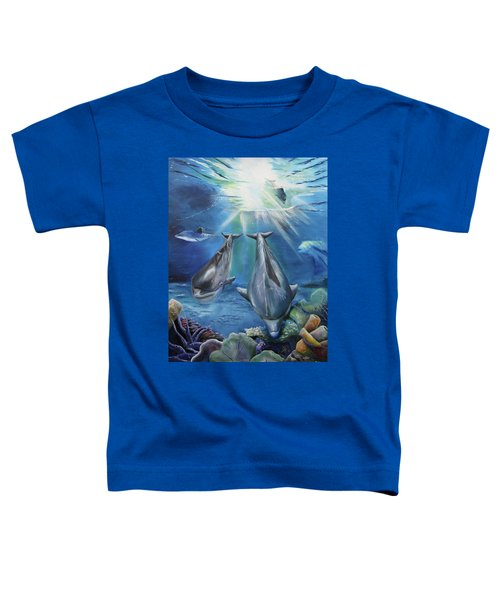 Dolphins Playing Toddler T-Shirt