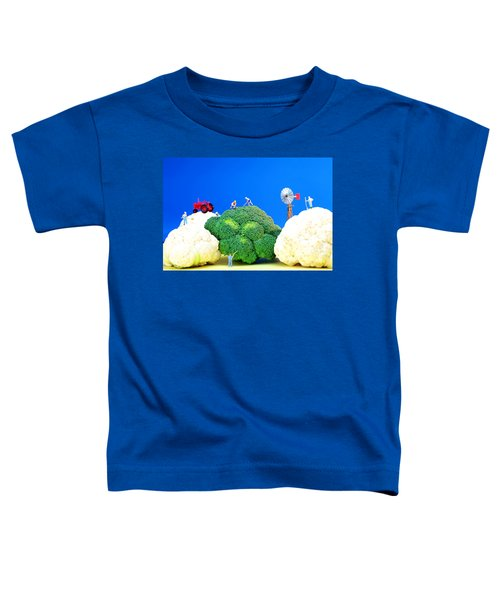 Farming On Broccoli And Cauliflower Toddler T-Shirt by Paul Ge