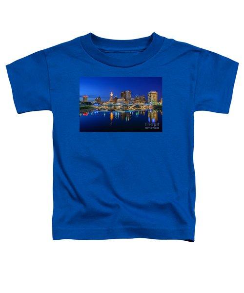 Fx2l530 Columbus Ohio Night Skyline Photo Toddler T-Shirt